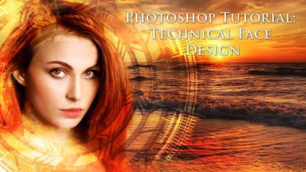 Photoshop Tutorial: Technical Face Design by XResch