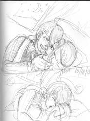 First kisses SanjixVivi Nefertari by StarbearerTM