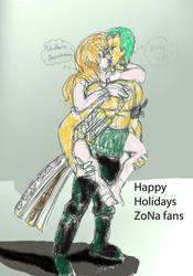 Happy Holidays ZoNa doodle by StarbearerTM