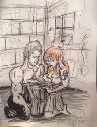In Prison-Zoro and Nami by StarbearerTM