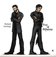 Richard  Armitage as Guy of Gisborne by Anastina91