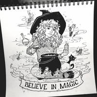 INKTOBER: Day 4 - Believe in magic by Anastina91