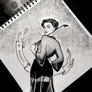 INKTOBER: Day 28 - Be passionate by Anastina91