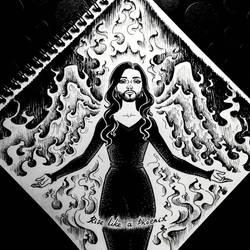 INKTOBER: Day 29 - Rise like a phoenix by Anastina91