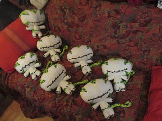 Wakfu Sadida dolls  Family 2 by Red-Hag