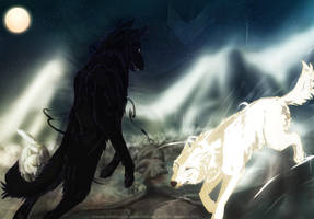 light versus darkness by MangoBirdy