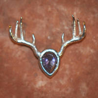 Antlered Pendant by Kittenpants