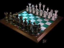 Chessboard by Kittenpants