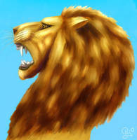 Detail from Lion of Lugh by Kittenpants
