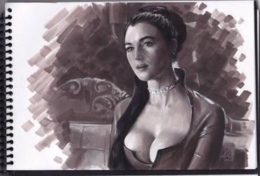 Monica Bellucci markers by Alex Bodnar by Taurine75