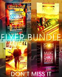 BIGBANG FLYER BUNDLE 4IN1 PSD by retinathemes