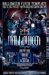 PSD Halloween Flyer by retinathemes