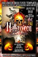PSD Halloween Bash Flyer by retinathemes