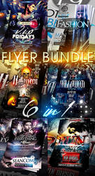 PSD 6 IN 1 FLYER BUNDLE 2 by retinathemes