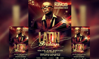 PSD Latin Fridays Flyer Template by retinathemes