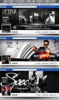 PSD Awesome Facebook Timeline Covers 3in1 by retinathemes