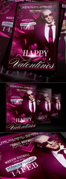 Happy Valentines Party Flyer Template by retinathemes