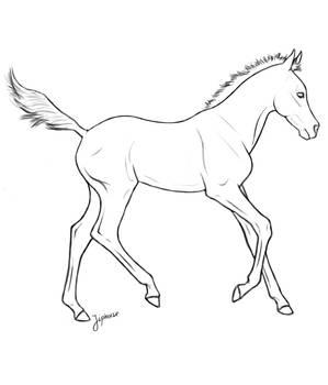 Free foal lineart by jiphorse