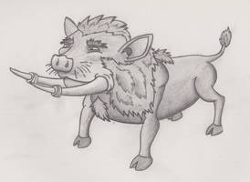 Half Hog, Half Lion, Half Walrus by Angrysmack