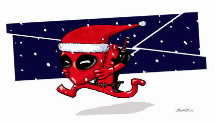 deadpoolXmas by Pierre-Blondin