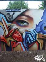 Konf graffiti Oxford by Konf
