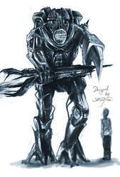 robot creature by Konf