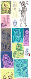 Canon 9 Traditional Doodle Dump by The-real-Vega777