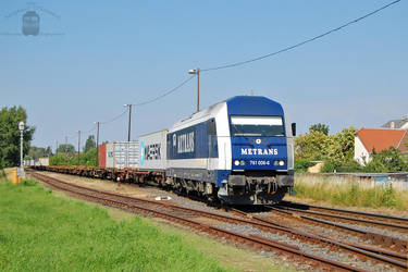 761 006 with container train in Gyorszabadhegy. by MorpheusPhotoworks