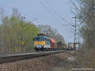 431 105 with a freight train near Gyor -2017- by MorpheusPhotoworks