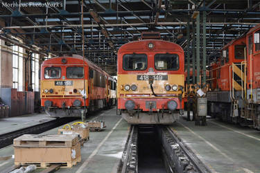 418 149 and 418 156 in Budapest Ferencvaros by MorpheusPhotoworks