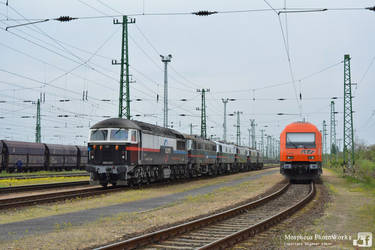659 002 and 2016 908 in Hegyeshalom - 2016 by MorpheusPhotoworks