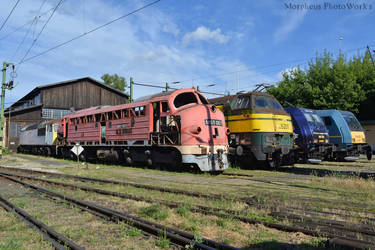 M61 002, SNCB 5201 and more rest in Budapest -2017 by MorpheusPhotoworks