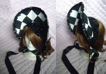 Checker Bonnet by monarch-lolita