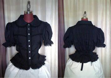 Black Short Sleeve Blouse by monarch-lolita
