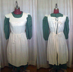 Mori Natural Kei Apron and Dress set by monarch-lolita