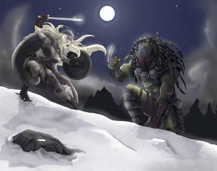 Viking vs Predator colored by LaTopazora