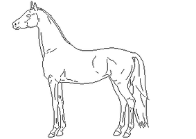 Pixel Horse Line art by AgnethaArt