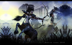 Centaur Hunters by Lady-Akyashaa
