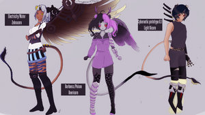 Contest Entry: Pandroid adoptables batch by DO-SHAZRIN