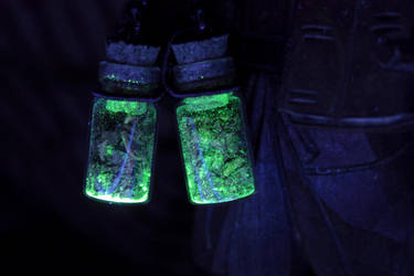 Deadly Nightshade Glow-in-the-Dark Earrings by DarcarinJewelry