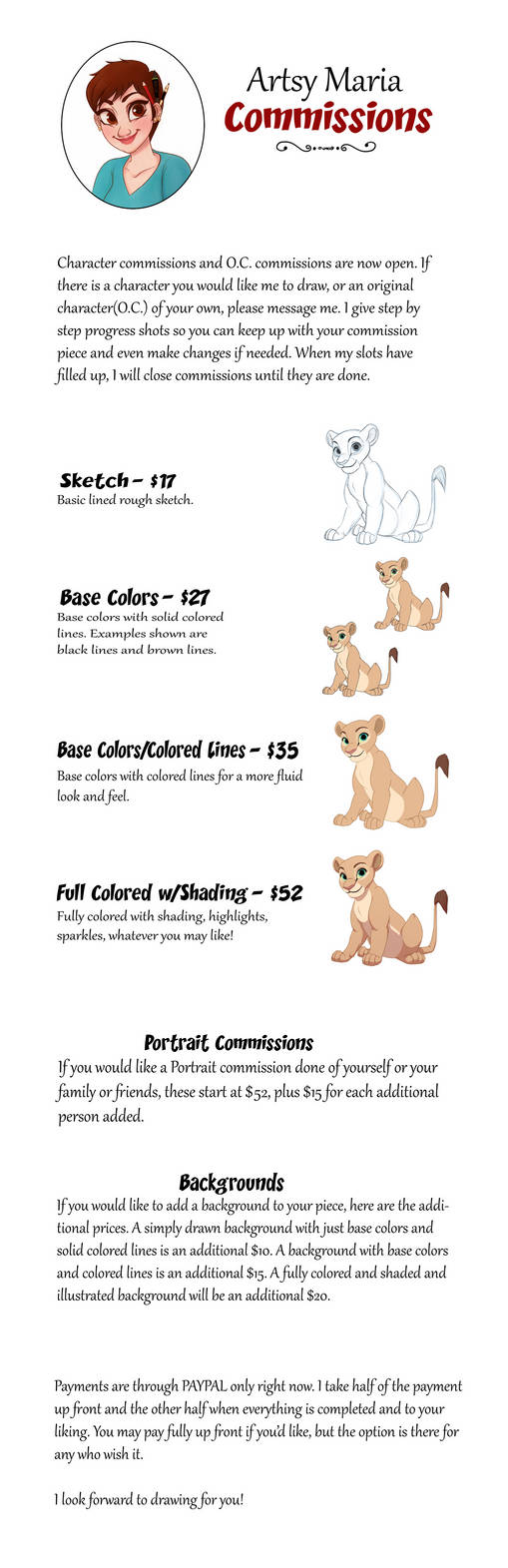 Commissions Sheet FINAL by ArtsyMaria