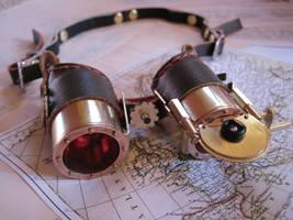 Steampunk Goggles en couleur by Baron-Artificer