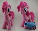 Pinkie Pie with working Party cannon by LyrasPlush