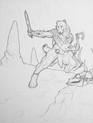 Snow Hunter by RavenTimberwolf