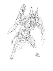 Anubis line art by RavenTimberwolf