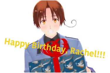 HAPPY BIRTHDAY RACHEL!!!!!! by tehisle-mmd