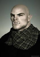 Shadowrun: Ork Portrait by obidancer