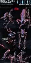 Custom Bull Alien Xenomorph Kenner Style Figure by MintConditionStudios