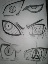 Eyes 1 Sasuke, Gaara, Pain, Neji, Naruto, Kakashi by hadira