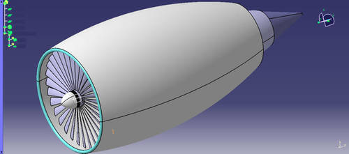 Jet engine was drawed with catia by hadira